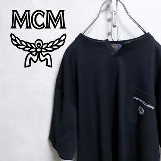 エムシーエム(MCM)のMCM エムシーエム ロゴ Tシャツ バックプリント ポケット 虎柄 古着(Tシャツ/カットソー(半袖/袖なし))
