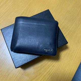 アニエスベー(agnes b.)のアニエスベー  折り財布 ネイビー メンズ(折り財布)