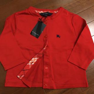 バーバリー(BURBERRY)の新品タグ付き☆バーバリー ロンドン カーディガン 110cm 赤チェック 子供(カーディガン)