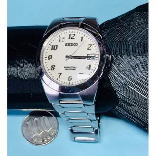 セイコー(SEIKO)のT29)気品の♡セイコー・パーペチュアルカレンダー・ディト付きシルバー(腕時計(アナログ))