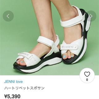 ジェニィ(JENNI)のJENNI LOVE  女の子サンダル 22.5 新品(サンダル)