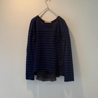 サカイラック(sacai luck)のサカイラック ロングTシャツ ロンT ボーダー バック切り替え(Tシャツ(長袖/七分))
