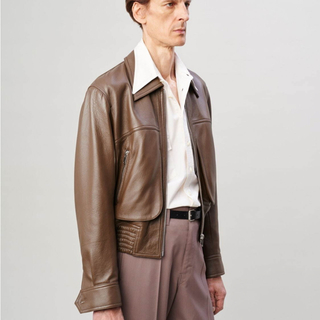 LEMAIRE - LEMAIRE  zipped leather blouson レザージャケット