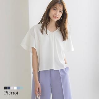 今期 pierrot ピエロ ブラウス トップス(シャツ/ブラウス(半袖/袖なし))