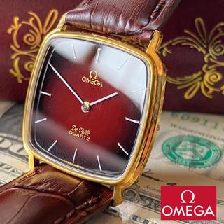 オメガ(OMEGA)の【新品仕上げ】オメガ デヴィル 18KGP タンク ヴィンテージ クォーツ腕時計(腕時計(アナログ))