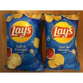 コストコ(コストコ)の2袋 アメリカ Lay's レイズ ポテトチップス レア ソルト&ビネガー(菓子/デザート)