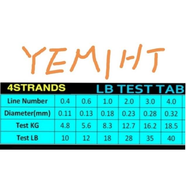 YEMIHT BRAID PEライン300mブルーカラー1.0#18LB スポーツ/アウトドアのフィッシング(釣り糸/ライン)の商品写真