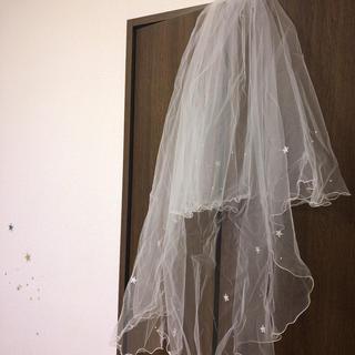 美品 ウェディングベール(ヘッドドレス/ドレス)