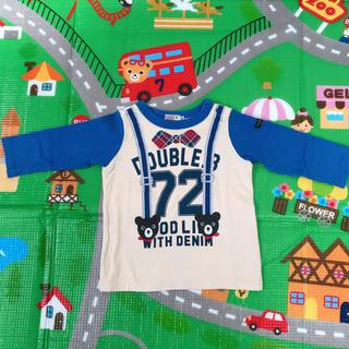 DOUBLE.B - 【80㎝】ダブルB/ミキハウス サスペンダーロンT