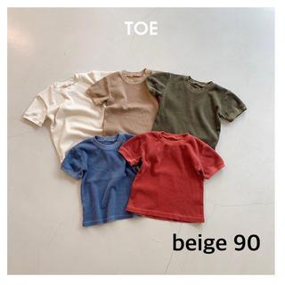 コドモビームス(こども ビームス)の新品  韓国子供服 TOE  Tシャツ ワッフル サーマル 90(Tシャツ/カットソー)