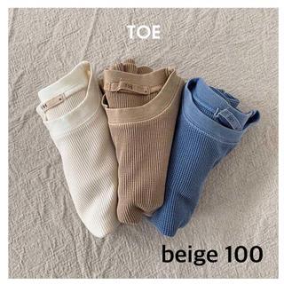 プティマイン(petit main)の新品  TOE  Tシャツ ワッフル サーマル 100 韓国子供服(Tシャツ/カットソー)