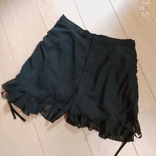 スナイデル(snidel)のSnidel スナイデル❤️フリルシアーショートパンツ ショーパン ブラック 黒(ショートパンツ)