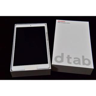 NTTdocomo - 【新品・未使用】docomo dtab d-01J Silver(S)