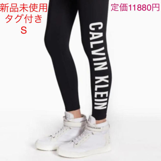 カルバンクライン(Calvin Klein)のCALVIN KLEIN カルバンクライン サイド ロゴ アンクル丈 レギンスS(レギンス/スパッツ)