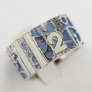 クリスチャンディオール(Christian Dior)のChristian Dior  リング トロッター柄 ブルー×シルバー(リング(指輪))