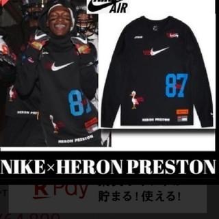NIKE - Heron preston x Nike ロンT ゲームシャツ Tシャツ