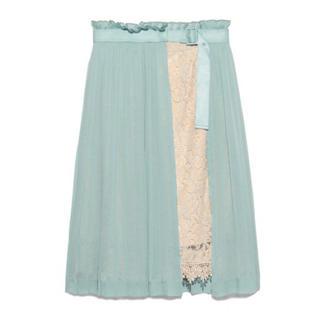 リリーブラウン(Lily Brown)のLilyBrown ラップ風プリーツスカート(ひざ丈スカート)