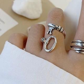 ザラ(ZARA)の1点のみ!新品 鍵 シルバー 指輪 リング アクセサリー ファッション 韓国(リング(指輪))