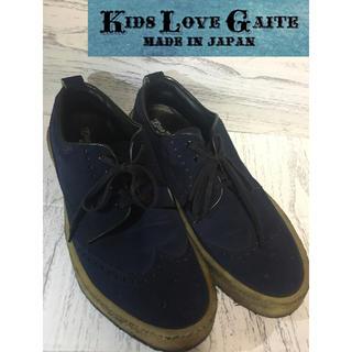 キッズラブゲイト(KIDS LOVE GAITE)のKIDS LOVE GAITE スウェード ☆ネイビー 約25.5cm 美品!(スニーカー)