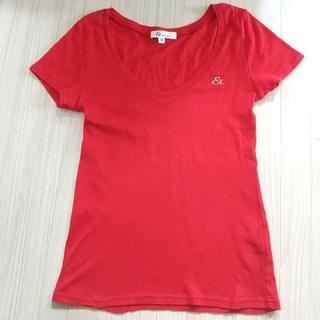 アンドバイピーアンドディー(&byP&D)の&byP&D 赤Tシャツ Mサイズ(Tシャツ(半袖/袖なし))