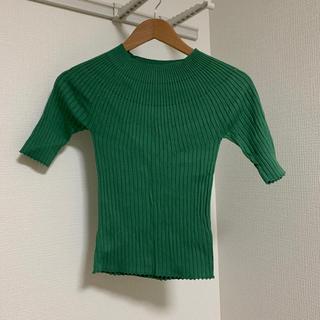 マウジー(moussy)のニットトップス(Tシャツ(長袖/七分))