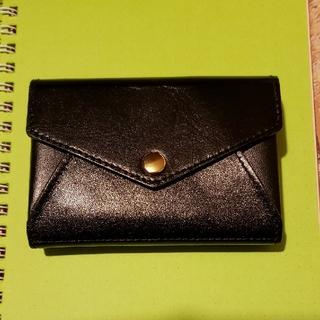 北欧、暮らしの道具店 ミニウォレット 本革財布 ブラック(財布)