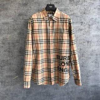 バーバリー(BURBERRY)のBURBERRY ロゴプリント チェックコットン オーバーサイズシャツ(シャツ/ブラウス(長袖/七分))