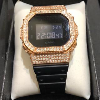 ジーショック(G-SHOCK)のG-SHOCK  DW-5600 Gカスタムピンクゴールドダイヤベゼル(腕時計(デジタル))