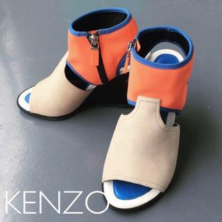 ケンゾー(KENZO)のKENZO◆ケンゾー◆ウェッジソールサンダル レディースハイブランド 23(サンダル)