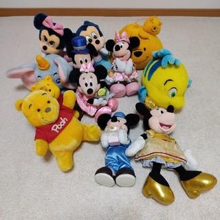 ディズニー(Disney)のディズニー ぬいぐるみ まとめ売り(キャラクターグッズ)
