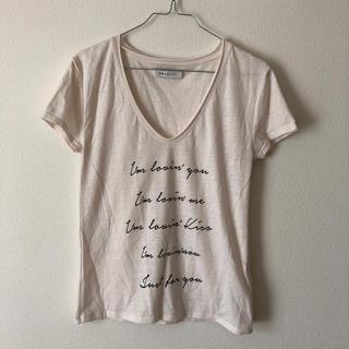 ダズリン(dazzlin)のダズリン 未使用 ユーズド加工 ロゴTシャツ(Tシャツ(半袖/袖なし))