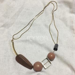 エンフォルド(ENFOLD)のparts necklace gold(ネックレス)