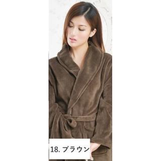 バスローブ ブラウン Mサイズ☆保湿効果☆男女兼用☆ペア☆ママ☆速乾(その他)