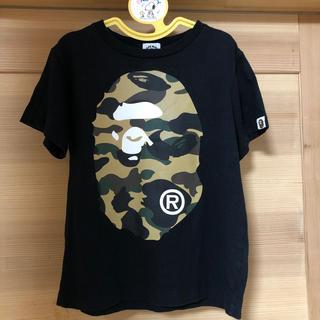 アベイシングエイプ(A BATHING APE)のA BATHING APE エイプ キッズ 120 Tシャツ ブラック(Tシャツ/カットソー)