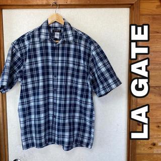 エルエーゲート(LA GATE)のLA GATE エルエーゲート チェック 半袖 シャツ(シャツ)