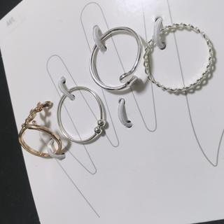 エイチアンドエム(H&M)の新品 リングセット シルバー ピンキーリング(リング(指輪))