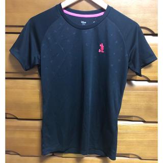 ミッキーマウス(ミッキーマウス)の半袖 メッシュ Tシャツ ミッキーマウス レディス Mサイズ ブラック(Tシャツ(半袖/袖なし))