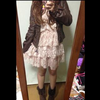 リズリサ(LIZ LISA)のLIZ♡フリルライダースジャケット(ライダースジャケット)