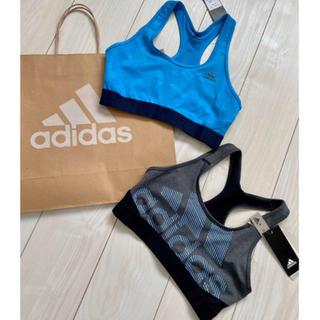 adidas - 新品 リーボック Reebok スポブラ スポーツブラ 2点セット ブルー M