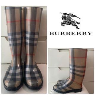 BURBERRY - バーバリー バーバリーチェック レインブーツ