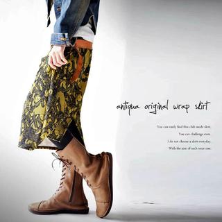 アンティカ(antiqua)のantiqua 和モダンレトロデザインスカート(ひざ丈スカート)