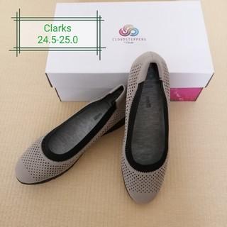 クラークス(Clarks)のクラークス フラットシューズ コンフォートシューズ 24.5-25.0(ハイヒール/パンプス)