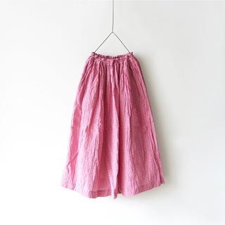 ネストローブ(nest Robe)の今季 新品 イチアンティークス コットンリネンギンガムスカート(ロングスカート)