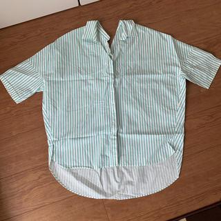 センスオブプレイスバイアーバンリサーチ(SENSE OF PLACE by URBAN RESEARCH)のセンスオブプレイスアーバンリサーチ ストライプオーバーシャツ(Tシャツ(半袖/袖なし))