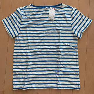 ユニクロ(UNIQLO)の新品 ユニクロ ボーダーシャツ(Tシャツ(半袖/袖なし))