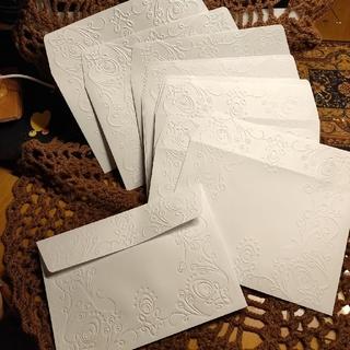 12 点 エンボス封筒 世界に1つだけのハンドメイドメッセージカードにジャスト(カード/レター/ラッピング)