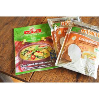 KALDI - タイカレー☆グリーンカレーペースト1袋&ココナッツミルクパウダー2袋