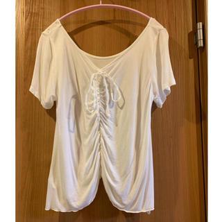 ユニクロ(UNIQLO)の花 プリント Tシャツ(Tシャツ(半袖/袖なし))