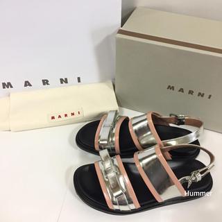 マルニ(Marni)の正規品 MARNI マルニ フスベット サンダル 39 24.5〜25 新品同様(サンダル)