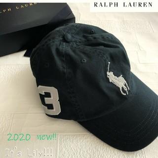 ラルフローレン(Ralph Lauren)の58cm ラルフローレン 人気 ダークグレイ ビックポニー キャップ(キャップ)